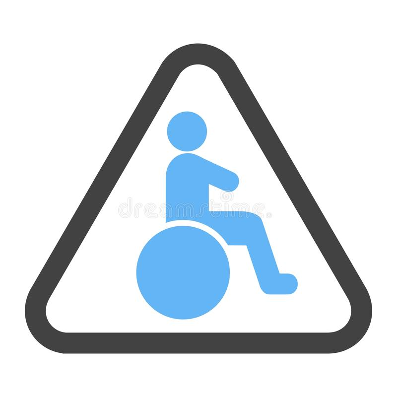 Handicapped zone icon royalty free stock images