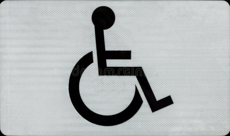 Handicapsymbool royalty-vrije stock foto's