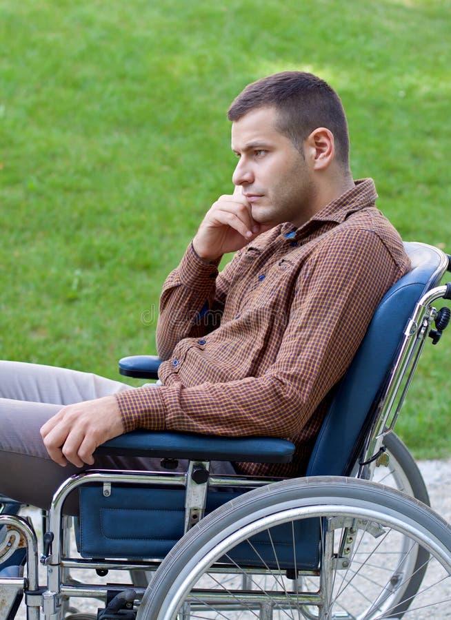Handicapzakenman stock foto