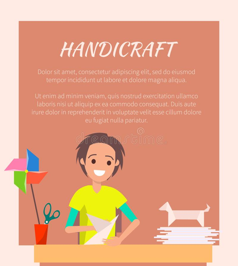 Handicraft Banner, Origami Art Vector Illustration vector illustration