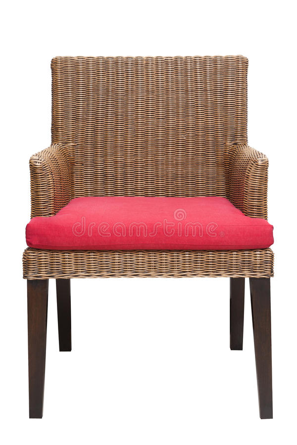 Handicraft chair. With red mattress sit stock image