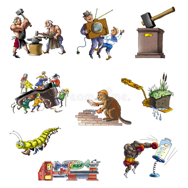 Download Handicraft and industry_2 stock illustration. Image of gear - 21786102
