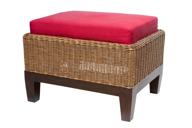 Handicraft stool. Wood mix handicraft stool with red mattress sit royalty free stock photos