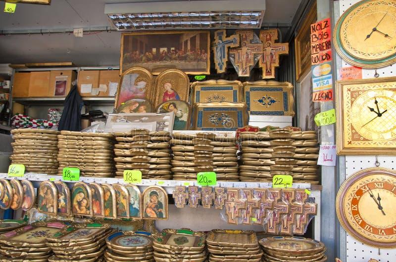 Handicraft Store in Pisa royalty free stock images
