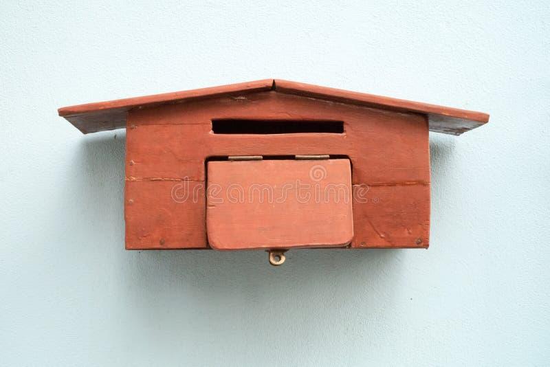Handicraft wood mailbox royalty free stock photo
