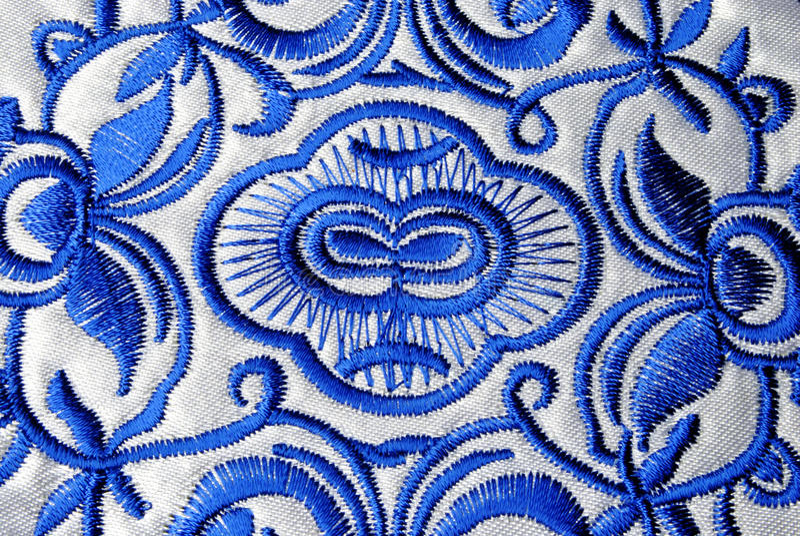 Handicrafts embroidery minorities royalty free stock photo