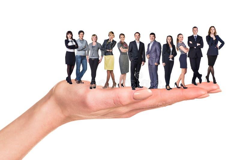 Handig commercieel team stock afbeelding