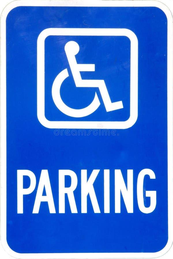 Handikap-Parken-Zeichen lizenzfreie stockfotos