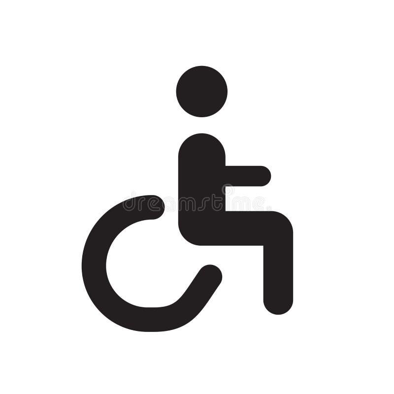 Handikapikonenvektor lokalisiert auf weißem Hintergrund, Handikapzeichen, medizinische Gesundheitssymbole vektor abbildung