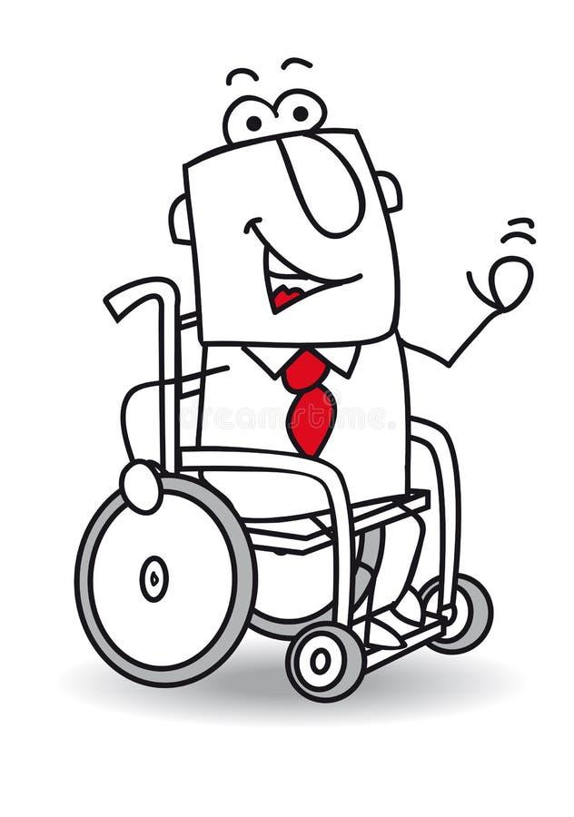 handikapp affärsman stock illustrationer