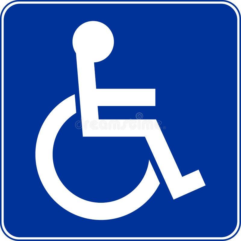Handikapp/rörelsehindrad person royaltyfri illustrationer