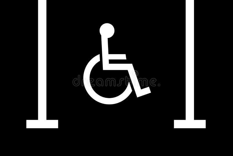 Handikappad parkeringsfjärd stock illustrationer