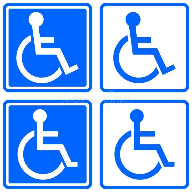 Handikappad symbol stock illustrationer