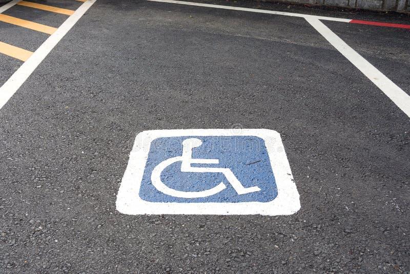 Handikapparkplätze lizenzfreies stockfoto