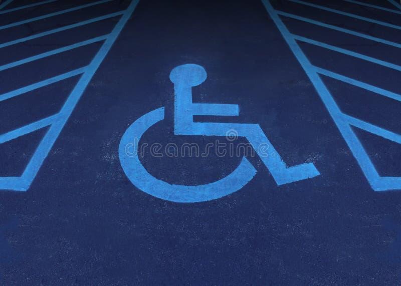 Handikappat och inaktiverat stock illustrationer