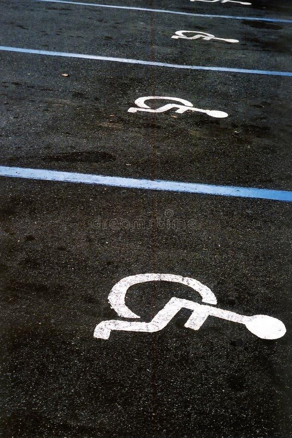 handikappat parkeringsperspektiv royaltyfri bild