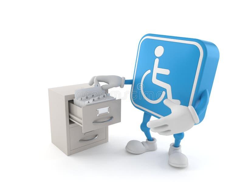 Handikappat tecken med arkivet vektor illustrationer