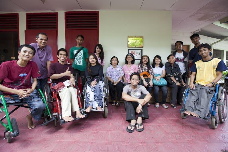 handikappdiskussionsungdom royaltyfria bilder