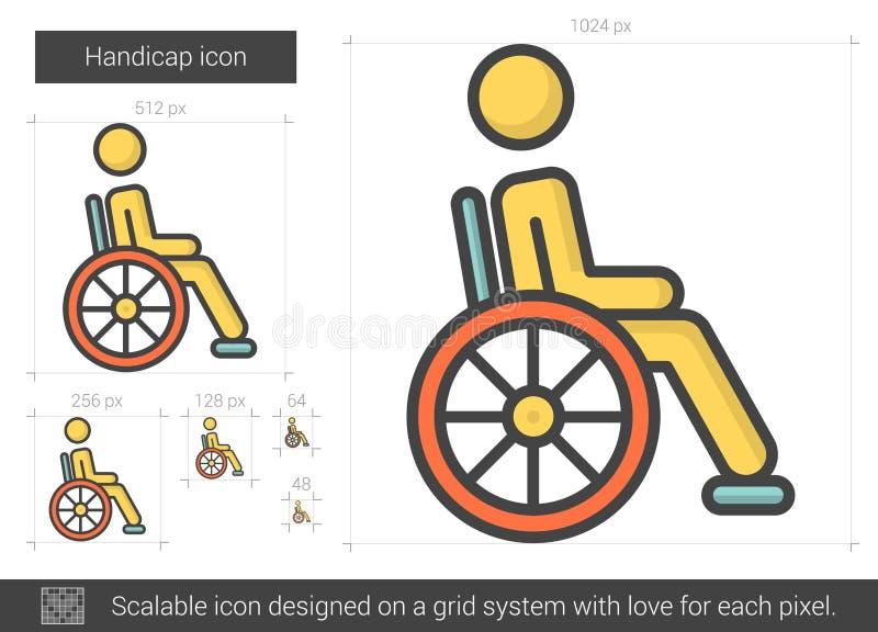 Handikapplinje symbol royaltyfri illustrationer