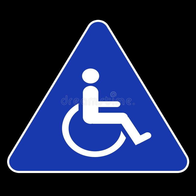 handikappsymbol vektor illustrationer