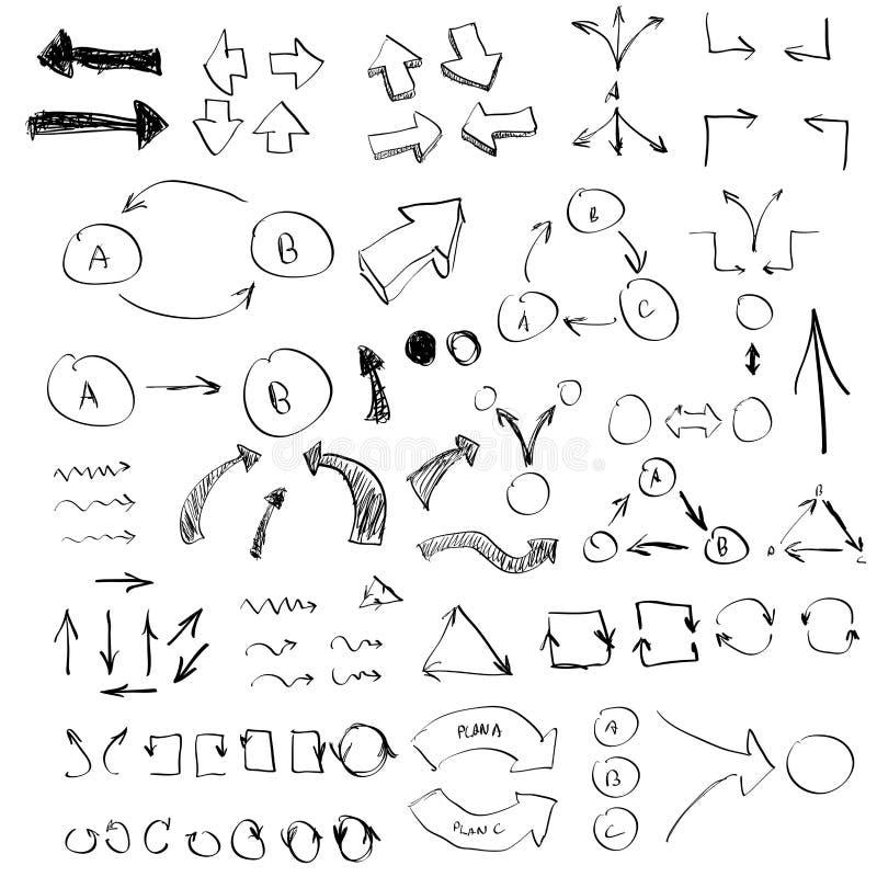 Handinfographics stock illustrationer