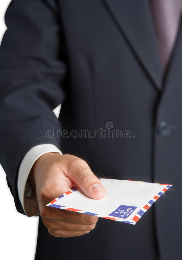 Download Handing a airmail stock photo. Image of hold, dispatch - 26539810