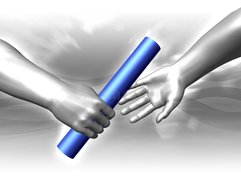 Handing The Baton Royalty Free Stock Image
