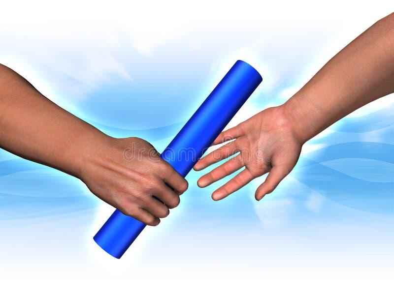 Handing the baton vector illustration