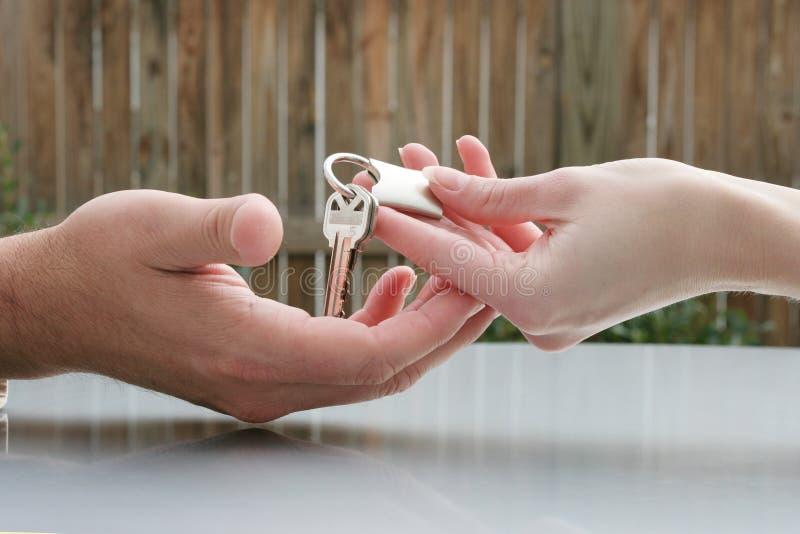 Handing over the keys stock photography