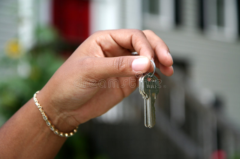 Download Handing Over the Keys stock image. Image of african, house - 1221811