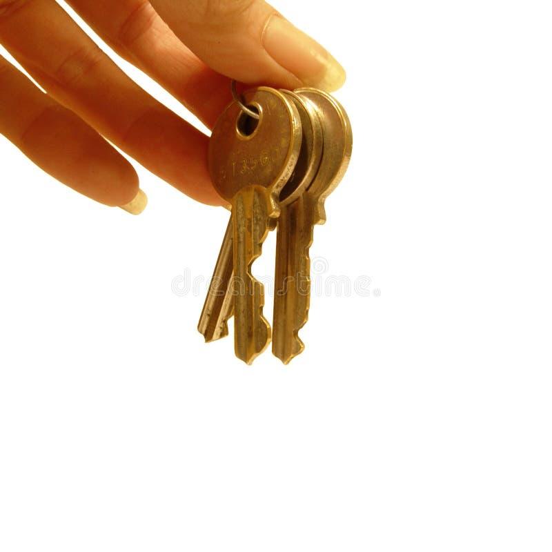 Handing over the keys stock photos