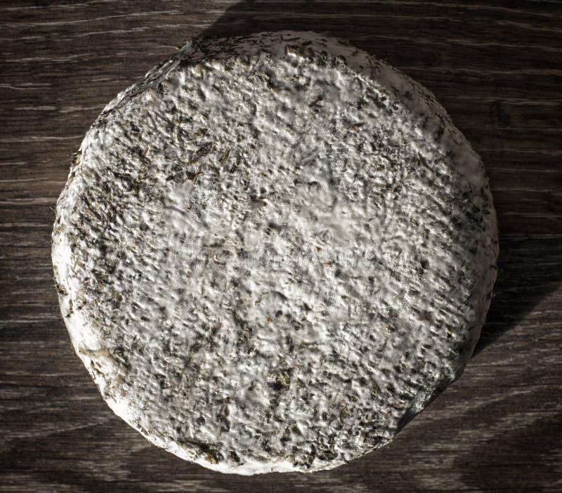 Handkäse aus Kuhmilch und Ziegenmilch Käsekopf stockfotografie