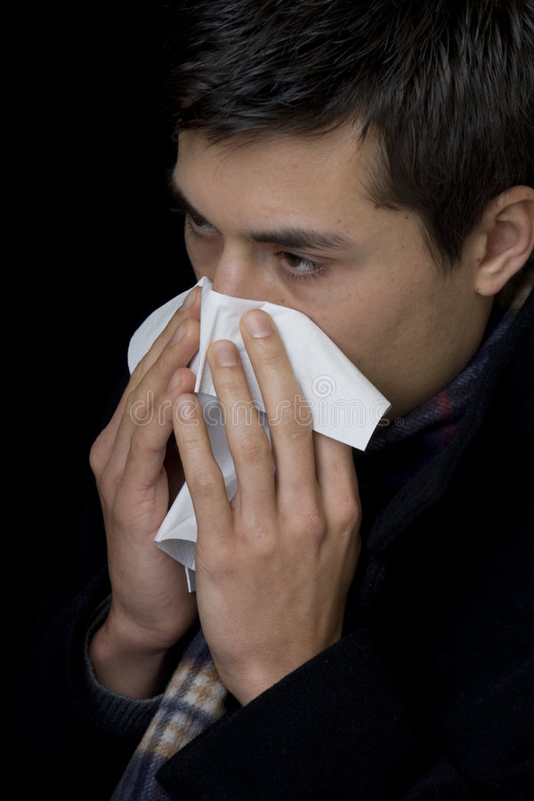 Download Handkerchief at cold stock photo. Image of suffer, infection - 7652524