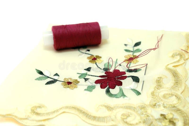 Handkerchief Sewing Stock Photo