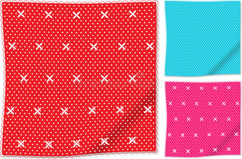 Download Handkerchiefs stock vector. Image of napkin, pink, handkerchief - 20802440
