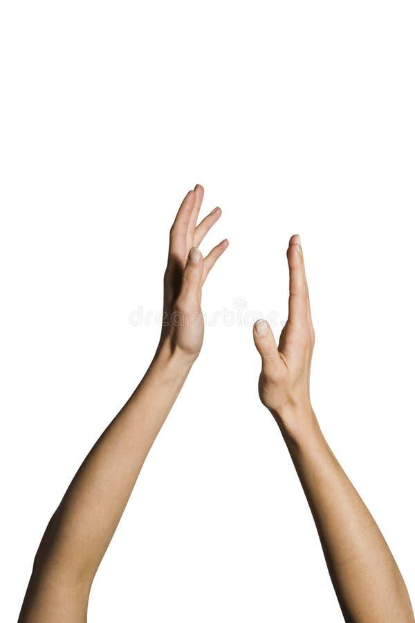Handklatschen der Frau stockfoto