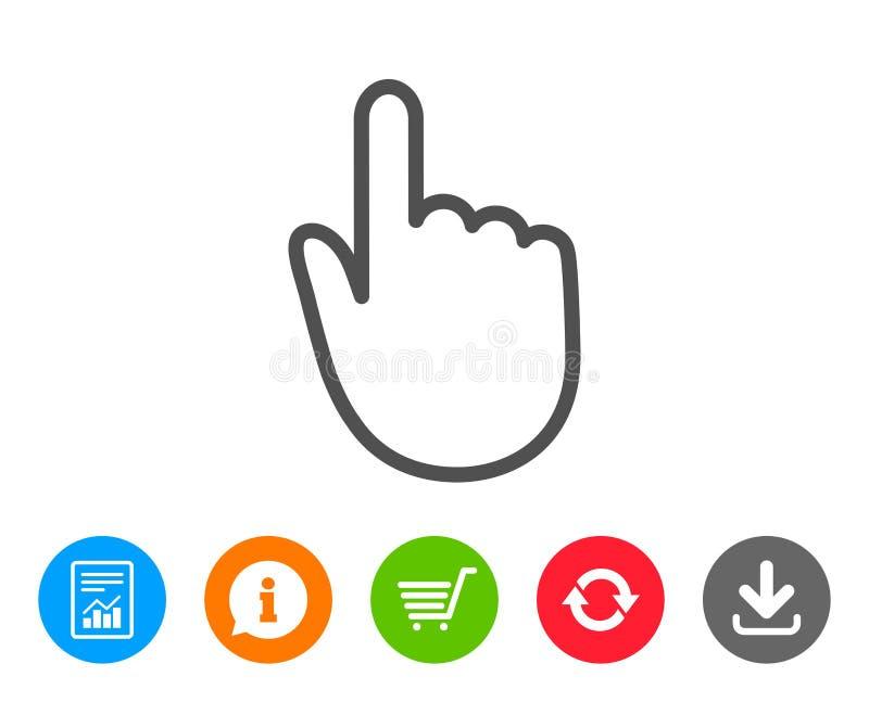Handklicklinje symbol Fingerhandlagtecken vektor illustrationer