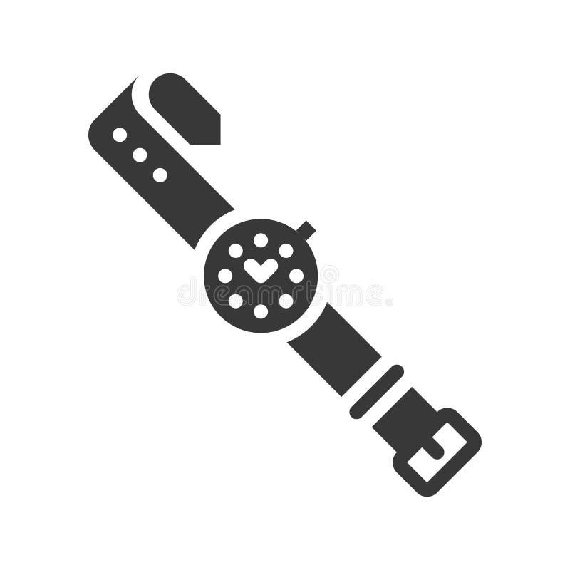 Handklockasymbol, perfekt vektorillustration för PIXEL royaltyfri illustrationer