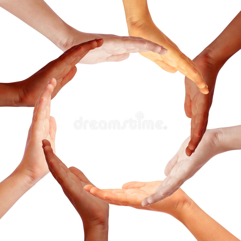Handkreis stockbild