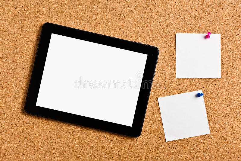 Handlagtableten med noterar legitimationshandlingar arkivbild