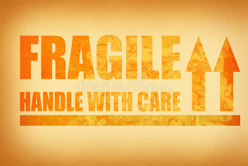 Handle with care stock photography