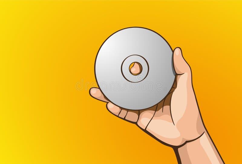 Download Handle cd stock vector. Image of human, raised, uplift - 43998751