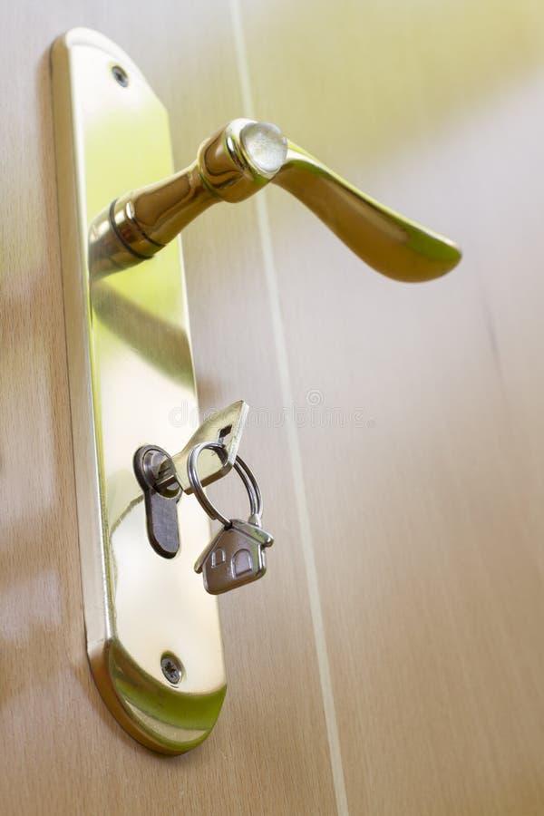 Handle of the door with the keys