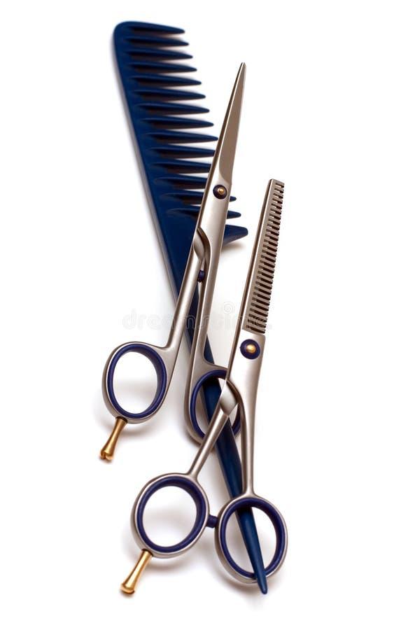 Handle rake and scissors royalty free stock photography