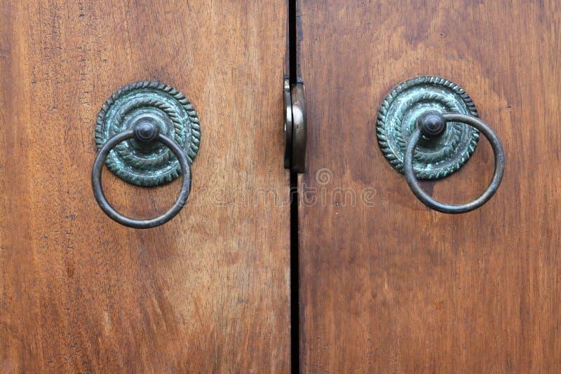 Download Handle Of Wood Door Royalty Free Stock Photos - Image: 25458748