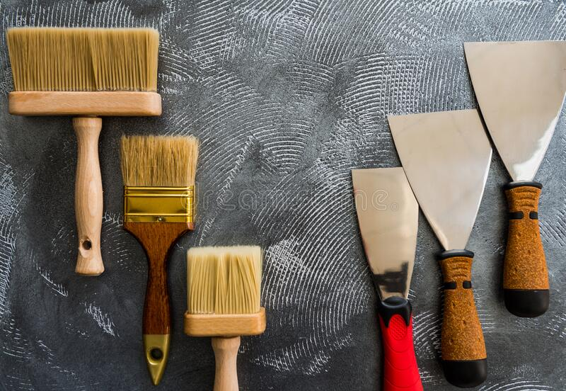 Handle working tools set royalty free stock photo