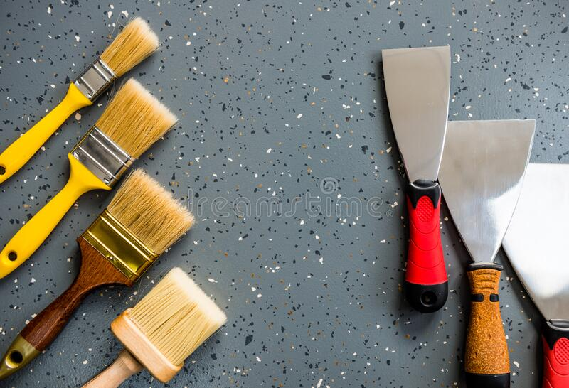 Handle working tools set royalty free stock image