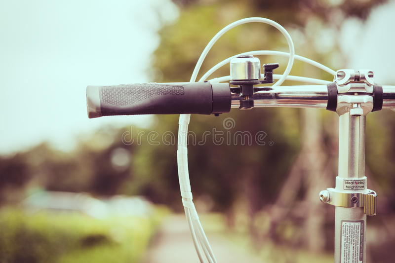 Handlebar from bicycle in vintage tone stock photos