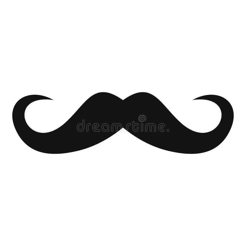 handlebar mustache icon simple style stock vector illustration rh dreamstime com mustache vector svg mustache vector free download