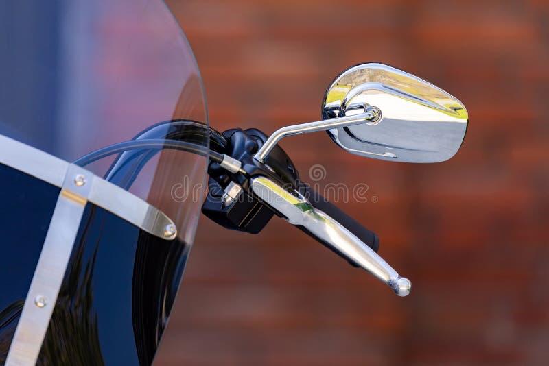 Handlebar of a new motorcycle royalty free stock image